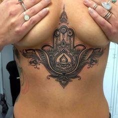 Underboob Tattoos Designs for Women (66)
