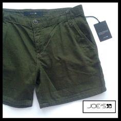 JOE'S JEANS Military Shorts in Olive. NWT JOE'S JEANS Military Shorts in Olive. Size 28. 100% Cotton.NWT. Joe's Jeans Shorts