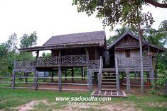 บ้านทรงมะนิลา - Google Search Thai House, Tropical Houses, Sweet Home, Home And Garden, Cottage, Cabin, House Design, House Styles, Small Homes