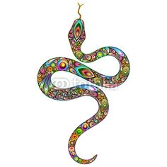 #Snake #Psychedelic #Art #Design - Sold at #Fotolia! :) http://it.fotolia.com/id/47879247