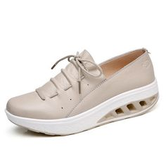 STQ Spring Women Platform Sneakers Shoes Lace Up Genuine Leather Platform Shoes Ladies Flat Shoes Women Flats Creepers 7688 Shoe Size Color 7688 Navy blue Casual Sneakers, Casual Shoes, Shoes Sneakers, Women's Shoes, Women's Casual, Shoe Wardrobe, Baskets, Pretty Shoes, Leather Loafers