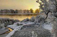 Missouri River north of Cascade,MT. By Jack Kirkuff Missouri River, Winter Season, Seasons, Christmas, Outdoor, Winter Time, Xmas, Outdoors, Winter