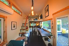 A 244 square feet tiny house designed for entertaining friends and family.