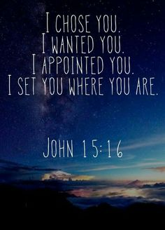 Amen! He has called us for His purpose and placed us where He wants us to be...so we rest in Him..Willine & Annette
