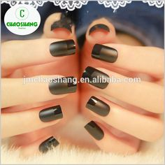 Pressed on nails sunlight Color change French nails /Artificial nail A