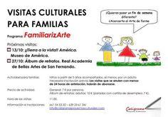 """Talleres creativos infantiles ¡Qué Arte! y visitas culturales para familias """"FamiliarizArte"""", (Madrid), octubre de 2013"""