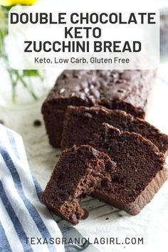 Double Chocolate Keto Zucchini Bread is the BEST! Made with coconut and almond flour, this low carb zucchini bread recipe is so simple, easy and delish! Oh yeah.sub coconut oil for the butter and it Keto Friendly Bread, Keto Friendly Desserts, Low Carb Desserts, Low Carb Recipes, Dessert Recipes, Healthy Recipes, Flour Recipes, Protein Recipes, Low Carb Zucchini Bread