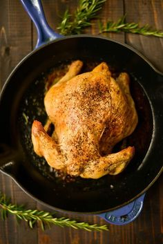 This delicious Healthy Oven Roasted Chicken recipe is made with a few simple ingredients. It requires minimal prep, is super moist and flavorful, and turns out perfectly every time! Chicken Recipes Video, Roast Chicken Recipes, Healthy Chicken Recipes, Oven Roasted Chicken, Keto Chicken, Clean Eating Recipes, Eating Healthy, Easy Meals, Cooking