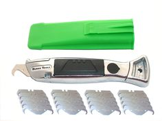 Silver Knife with German Deep Hook Blades and Holster * Learn more by visiting the image link.