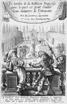 Abraham Bosse d'après Jean de Saint-Igny (v. 1597-1647)  Le Jardin de la noblesse française, 1629: Titre