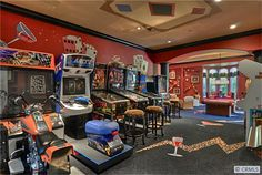 How about this RED gameroom? Pretty HOT!  6 Inspiration Point, Laguna Niguel CA - Trulia