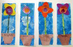 Cassie Stephens: kindergarten painted paper flowers