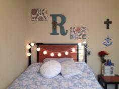 College apartment bed