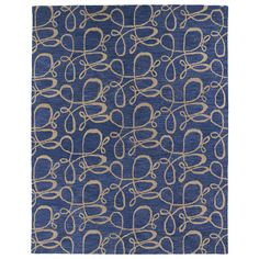 Hand-tufted Zoe Blue Signature Wool Rug (8'x10') | Overstock.com Shopping - The Best Deals on 7x9 - 10x14 Rugs