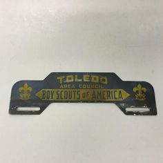 Vintage License Plate Topper Toledo Area Council Boy Scouts of America | eBay