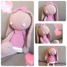 Doudou poupée lapin pour fillette au crochet : Jeux, jouets par labulledanna
