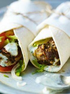 Low FODMAP and Gluten Free Recipe - Minted lamb wraps   http://www.ibssano.com/low_fodmap_recipe_minted_lamb_wraps.html