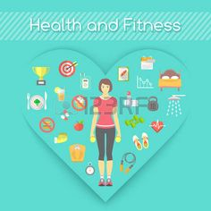 Modern flat fitness conceptual illustration.