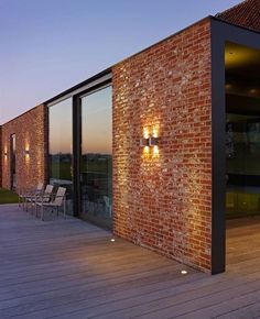 Bricks, glass and wood - my favourite materials brick house designs, modern brick house Modern Brick House, Brick House Designs, Modern House Design, Brick Design, Red Brick Houses, Brick Facade, Facade House, Brick Shed, Brick Cladding