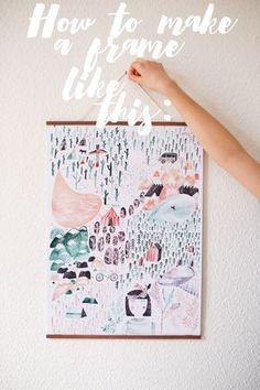 DIY wooden poster hanger: Herzundblut.com
