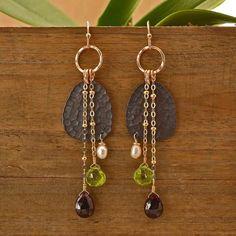 Handcrafted Dangling Gemstone Earrings | Plumb Line Jewelry