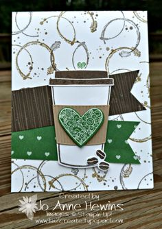 Coffee Cafe, coffee cups, Stampin up