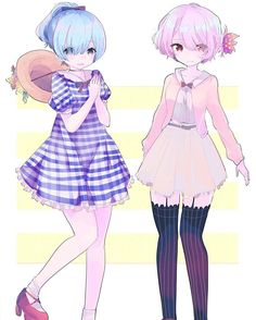 Rem and Ram •^• so cute