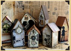 7 Gypsies Off the Wall....Global....love these papers and of course houses!