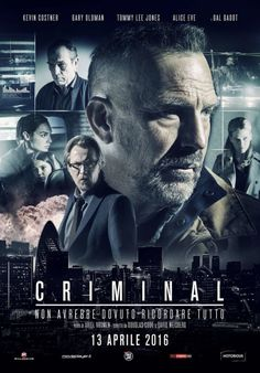 Criminal 2016 Dual Audio BRRip ESubs CIA agent Bill Pope (Ryan Reynolds) dies while traveling to a secret location to meet a hacker who can launch missiles at will. Desperate to find his… Films Netflix, Good Movies On Netflix, Good Movies To Watch, Movies Online, Tommy Lee Jones, Kevin Costner, Gary Oldman, Streaming Hd, Streaming Movies