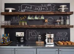 High Quality 25+ DIY Coffee Bar Ideas For Your Home (Stunning Pictures)
