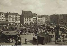 Nowy Targ, pierzeja północna i fragment wschodniej. Widoczny wylot ul. Drewnianej i Piotra Włosta. 1908 r.