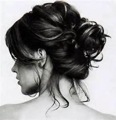 messy up do hairstyles - Bing Images