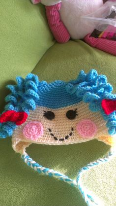 Lalaloopsy-Inspired Crochet Hat by Etsy seller MaryVaryCrafty