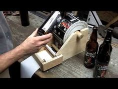 DIY Beer Bottle Label Applicator - YouTube