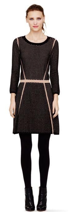 Selena Jacquard Sweater Dress