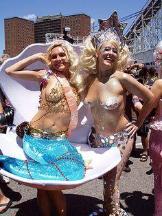 New York Nitty-Gritty Mixer Themes, Carnival Girl, Brooklyn Girl, Mermaid Parade, Island Theme, Welcome Summer, Mermaid Diy, Coney Island, Atlantic City