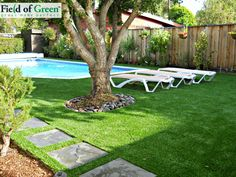 Stop hassling with mud and dirt by the pool by switching to artificial grass.