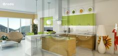 """Kitchen MELBURN from RODA (collection of kitchens """"Modern space""""). Facades with 3D by milling"""