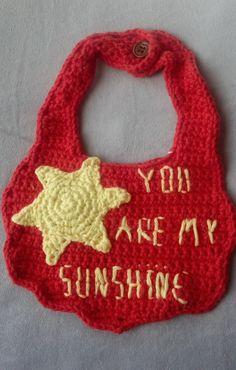 You are my sunshine Bib by BabyAgapeBlessings on Etsy