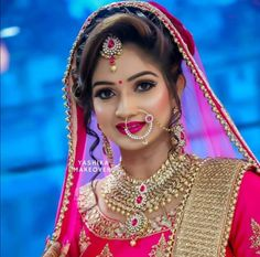 Drama - trabab see chompoo. Bengali Bride, Desi Bride, Punjabi Bride, Bride Look, Indian Wedding Makeup, Indian Bridal Fashion, Wedding Lehanga, Wedding Bride, Indian Bridal Hairstyles