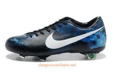 Nike Mercurial 2013 CR7 Limited Edition FG Soccer Cleats Cheap Black White Blue Galaxy