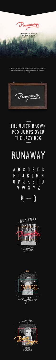 Runaway Font (Free) on Behance by Iulian Maftei                              …