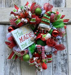 Your place to buy and sell all things handmade Christmas Elf, Christmas Wishes, Christmas Projects, All Things Christmas, Xmas, Halloween Crafts, Holiday Crafts, Holiday Decor, Christmas Wreaths For Front Door