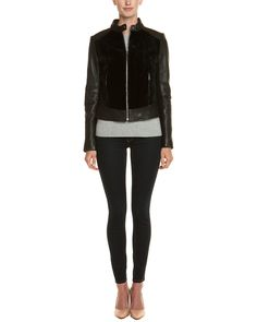 Spotted this Andrew Marc Sadie Black Leather Jacket on Rue La La. Shop (quickly!).