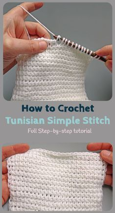Crochet Stitches Patterns - Tunisian Crochet is a lot like regular crochet but with some key differences. Learn to crochet the Tunisian Crochet Simple Stitch with this full photo-tutorial. It really is easier than you think! Love Crochet, Learn To Crochet, Knit Crochet, Things To Crochet, Single Crochet, Crotchet, Double Crochet, Crochet Baby, Tunisian Crochet Patterns
