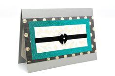 $5.00 Polka Dot Note Card Paper Handmade Card Grey by AmeliaRyCreations