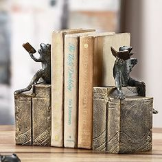 Bibliophile Frog Bookends -- To view further for this item, visit the image link.