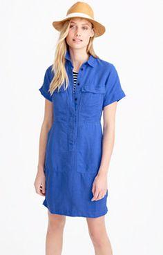 Short-sleeve cargo dress
