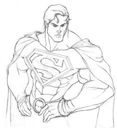 Easy Superman Drawings Sketches Another Superman By