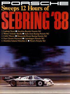 Sebring Poster 1988: Porsche 962